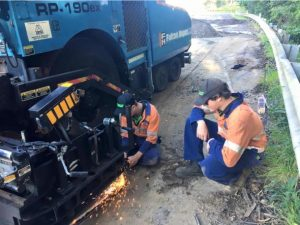 Earthmoving maintenance